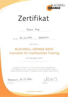 Blackroll-orange BASIC-Instructor für myofasziales Training