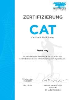 Certified Athletik Trainer